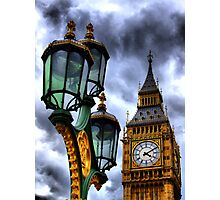 Big Ben and Lamp - HDR  Photographic Print