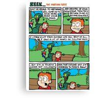 ZEEK ... The Martian Geek - antennae comic Canvas Print