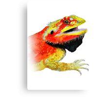 bearded dragon watercolour Canvas Print