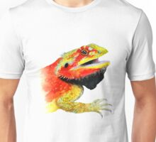 bearded dragon watercolour Unisex T-Shirt