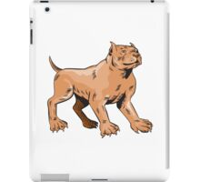 Pitbull Dog Mongrel Standing Etching iPad Case/Skin
