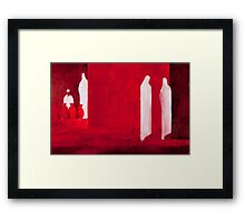 Red I Framed Print