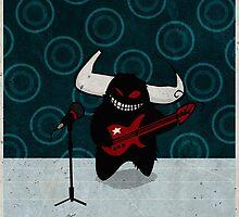 fuzzy demon rockstar by sickleaf