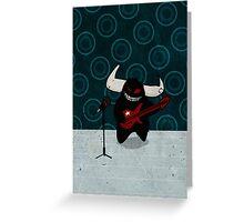 fuzzy demon rockstar Greeting Card