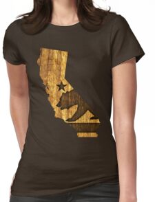 California State Bear (wood design) Womens Fitted T-Shirt