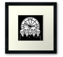 The Gentlemen Clocktower Framed Print