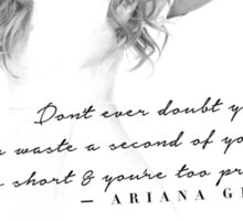 Ariana Grande Quote #2 Sticker