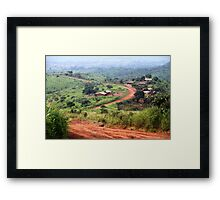 Orange Winding Road - Ring Road, Cameroon Framed Print
