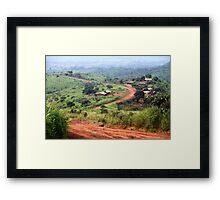 Orange Winding Road - Ring Road, Cameroon Framed Print