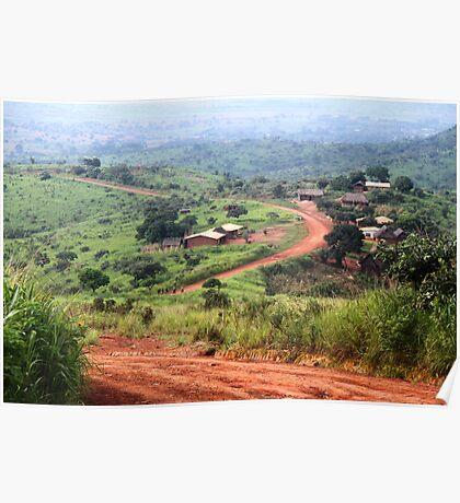 Orange Winding Road - Ring Road, Cameroon Poster