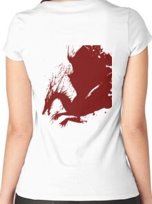 Dragon Logo Women's Fitted Scoop T-Shirt