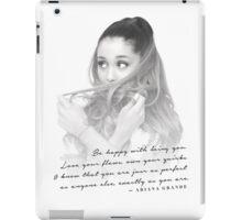 Ariana Grande Quote #1 iPad Case/Skin