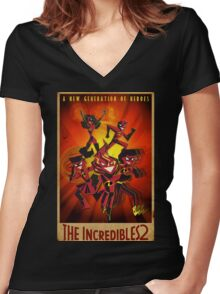 The Next INCREDIBLE Gen! Women's Fitted V-Neck T-Shirt