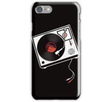 Record Player Audio Analog Vinyl Old School Music Geek Vintage Design iPhone Case/Skin
