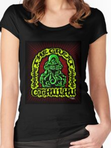 Great Cthulhu ( En Scarlette ) Women's Fitted Scoop T-Shirt