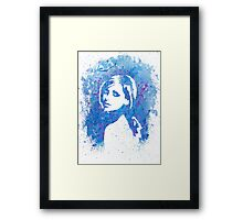 SMG Watercolor Portrait Framed Print