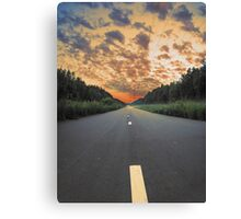 Road to Wood Canvas Print