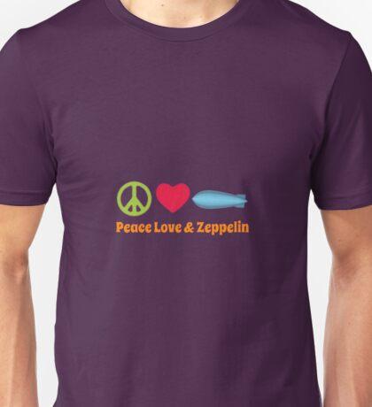Peace Love & Zeppelin Unisex T-Shirt