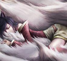 League of Legends - Ahri Sleeping by Mistman