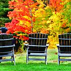 Autumn Chairs by Karen Peron