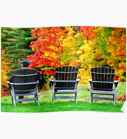 Autumn Chairs Poster