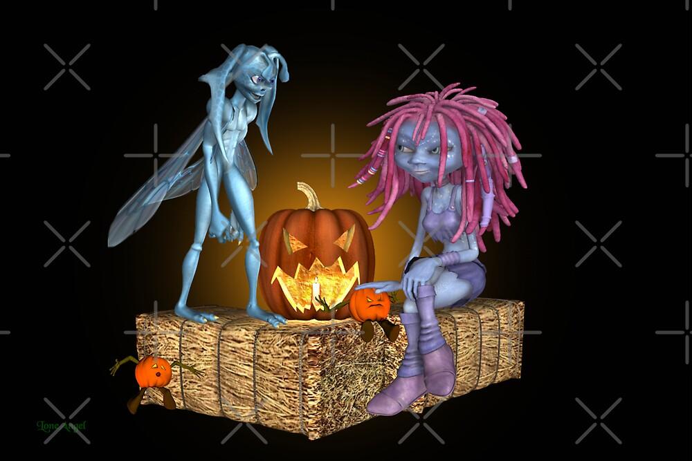 Halloween Danger .. tale of the pumpkin man by LoneAngel