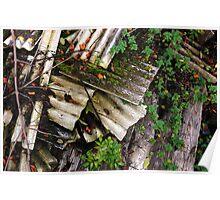 Corrugated Asbestos Broken Poster