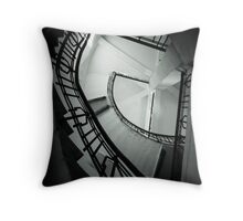 Staircase in an old water tower (B&W) Throw Pillow