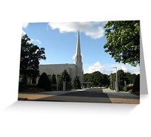 Haven of Peace - The Preston England Temple Greeting Card