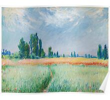 Claude Monet - Wheatfield Poster
