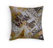 Abstract Collage 1 - alternate options  Throw Pillow
