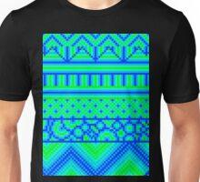 pixel mess blue green Unisex T-Shirt