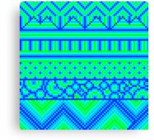pixel mess blue green Canvas Print