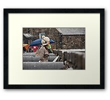 Snowing view Framed Print