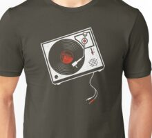 Record Player Audio Analog Vinyl Old School Music Geek Vintage Design Unisex T-Shirt