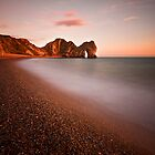 Durdle door at sunset by Shaun Whiteman
