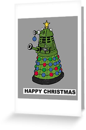 Dalek doctor who christmas card by Scott Barker