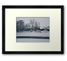 Small town snow  Framed Print