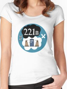 Sherlock/Doctor Who/Tfios Design Women's Fitted Scoop T-Shirt