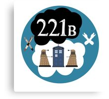 Sherlock/Doctor Who/Tfios Design Canvas Print