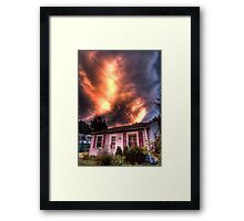 Fire Water Framed Print
