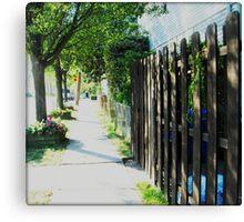 Neighborhood Pathway Canvas Print