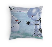 Tinny Snowman??? Throw Pillow
