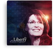Sarah Palin Patriot Canvas Print