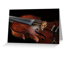 Violin with rosin Greeting Card