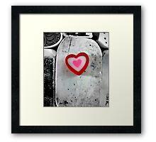 heart shaped eraser Framed Print
