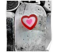 heart shaped eraser Poster