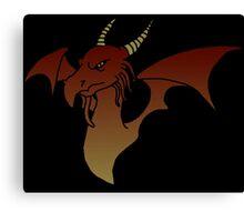 Grumpy old dragon Canvas Print