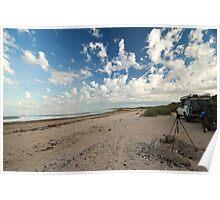 Waiting for nightfall - McLeods Beach Exmouth WA Australia Poster