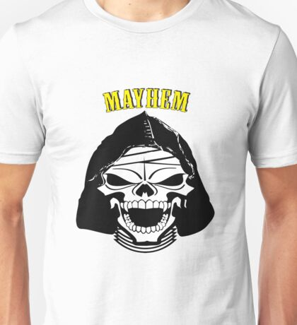 Mayhem Anarchy Skull Unisex T-Shirt